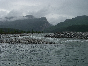 Pairie creek flowing into the Nahanni.