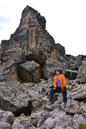 Lava Tower junction at 4550m