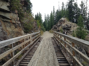 First trestle, looking back the way we came