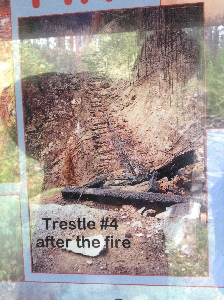 Destroyed trestle - lots of them were like this after the fire - Nothing left.